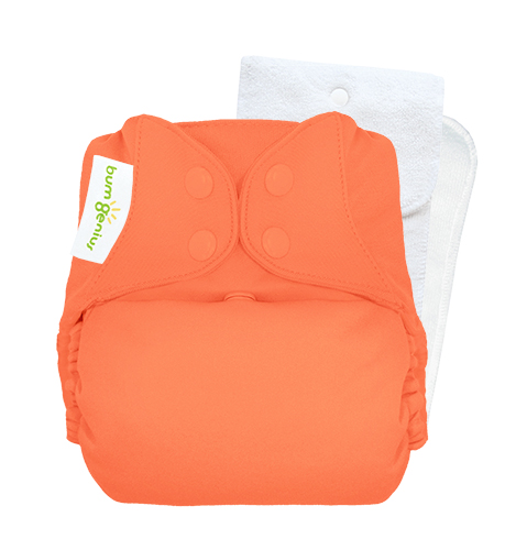 bumGenius 5.0 one size cloth diapers with snaps - Kiss