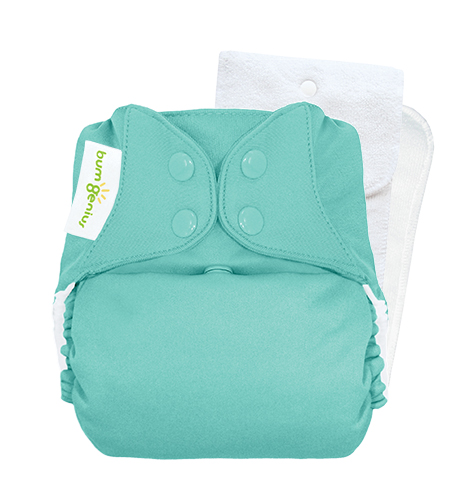 bumGenius 5.0 one size cloth diapers with snaps - Mirror