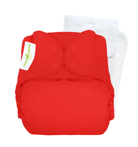 bumGenius 5.0 one size cloth diapers with snaps - pepper