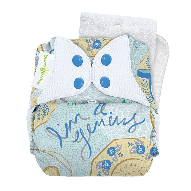 bumGenius 5.0 one size cloth diapers with snaps - Austen