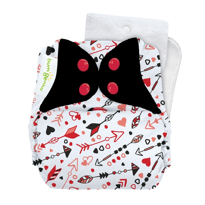 bumGenius 5.0 one size cloth diapers with snaps - be mine