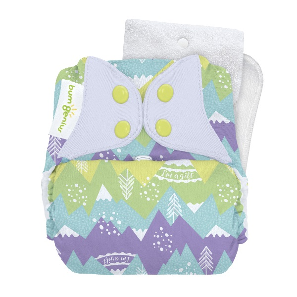 bumGenius 5.0 one size cloth diapers with snaps - Strong