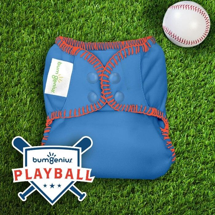 bumgenius freetime diaper - playball collection Homerun