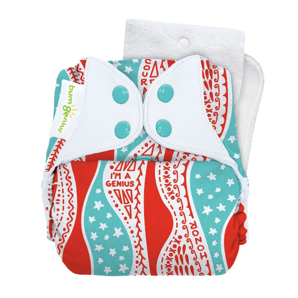 bumGenius 5.0 one size cloth diapers with snaps - mary pickersgill