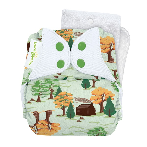 bumGenius 5.0 one size cloth diapers with snaps - big woods