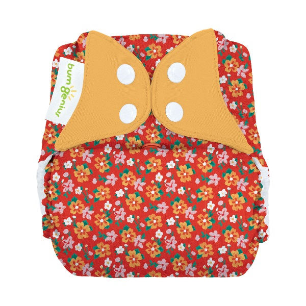 bumGenius freetime cloth diapers with snaps -  Prairie Flowers