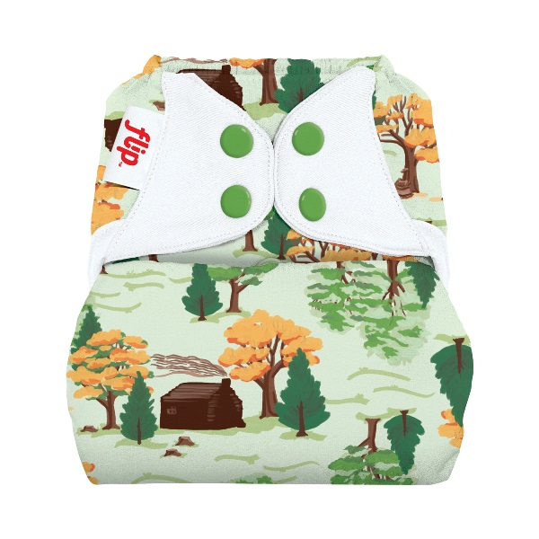 flip diaper cover - big woods