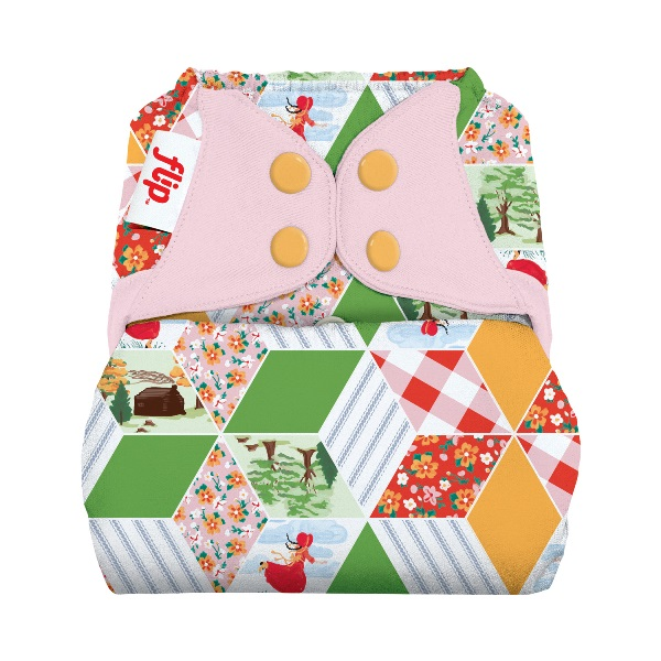 flip diaper cover - Patchwork