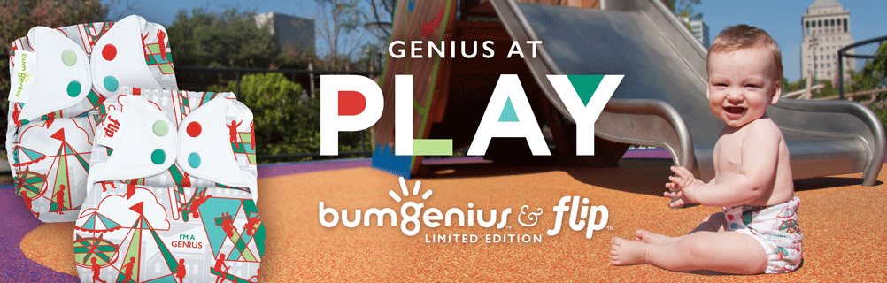 bumgenius cloth diaper - play
