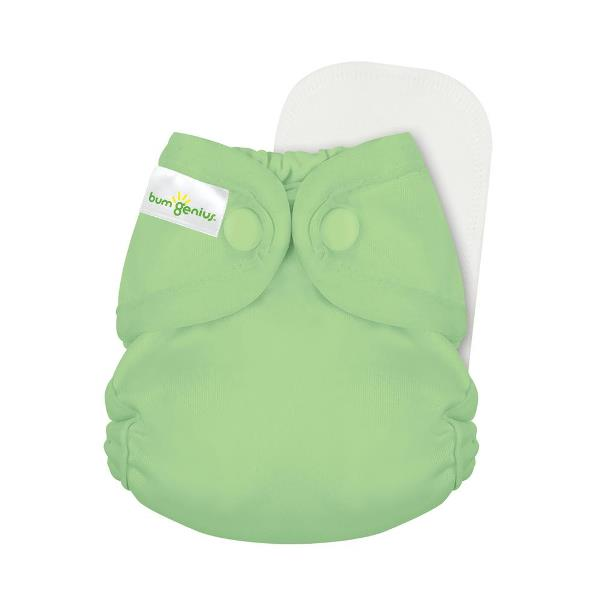 bumgenius little 2.0 all in on cloth diaper - Grasshopper