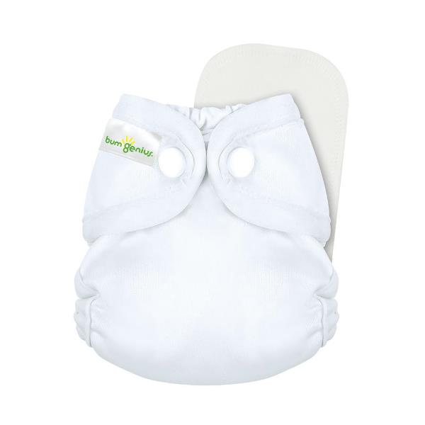bumgenius little 2.0 all in on cloth diaper - White