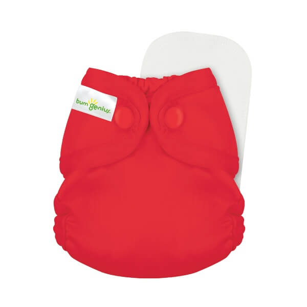 bumgenius little 2.0 all in on cloth diaper - pepper