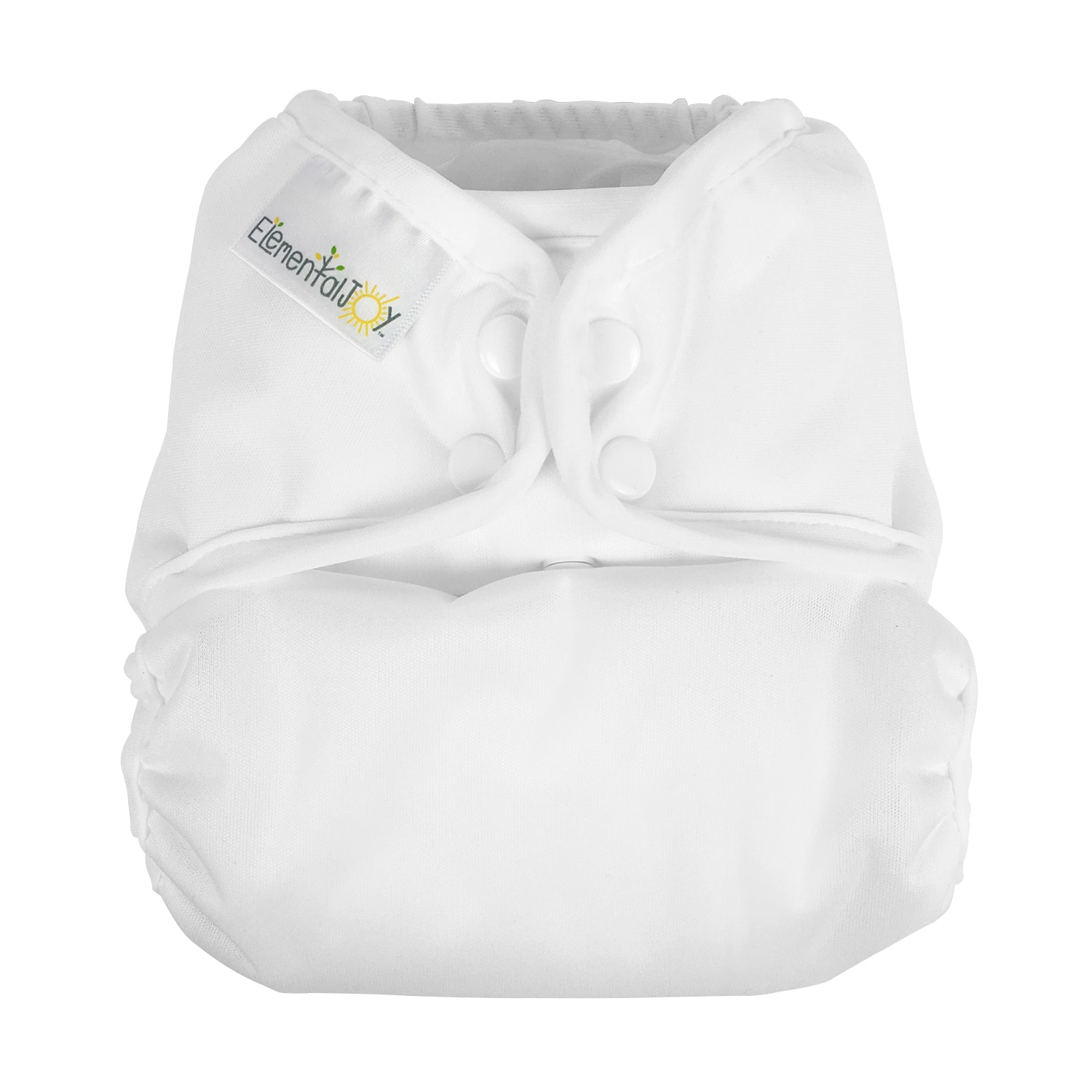Elemental Joy Pocket Cloth Diaper - White