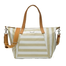 StorkSak Noa Diaper Bag - Stripe Fawn