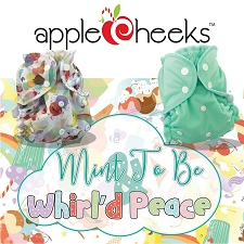 AppleCheeks LIMITED Edition - Mint to Be & Whirl'd Peace