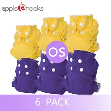 AppleCheeks One Size Cloth Diaper Kit - 6 Pack