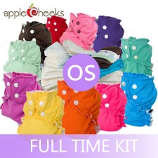 AppleCheeks One Size Cloth Diaper Full Time Kit