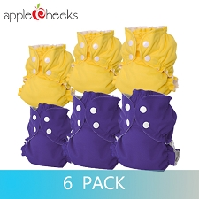 AppleCheeks Two Sized Cloth Diaper Kit - 6 Pack