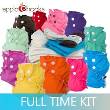 AppleCheeks Two Sized Cloth Diaper Full Time Kit
