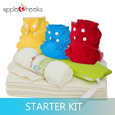 AppleCheeks Two Sized Cloth Diaper Starter Kit