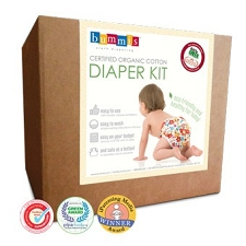 Bummis Organic Cotton Prefold Diaper Kit