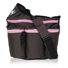 Diaper Dude Brown Pink zip Diva - Specially Designed for Hip Moms
