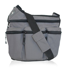 Diaper Dude Original Diaper Bag - Grey Pinstripe