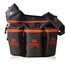 Diaper Dude Original Diaper Bag - Brown Skull