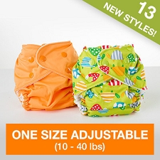 Fuzzibunz One Size Adjustable Pocket Diaper (10-40 lbs)