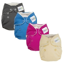GroVia Newborn AIO Cloth Diapers - 4 Pack