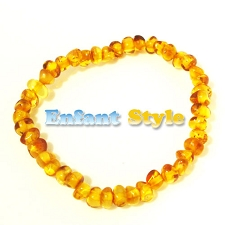 Healing Amber Baby Baltic Amber Teething Bracelet/Anklet - 5.5 inches - STRETCH
