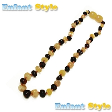 Healing Amber Baby Baltic Amber Teething Necklace - Molasses & Cream