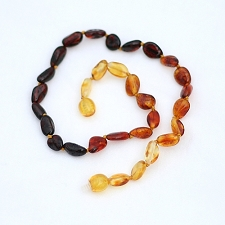 Healing Amber Baby Baltic Amber Teething Necklace - Rainbow Oval