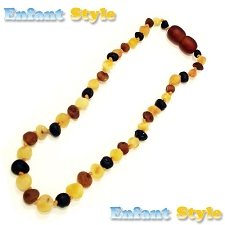 Healing Amber Baby Baltic Amber Teething Necklace - Raw Multi Circle