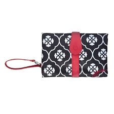 JJ Cole Changing Clutch - Black Floret