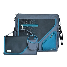JJ Cole Metra Diaper Bag - Blue Diamond