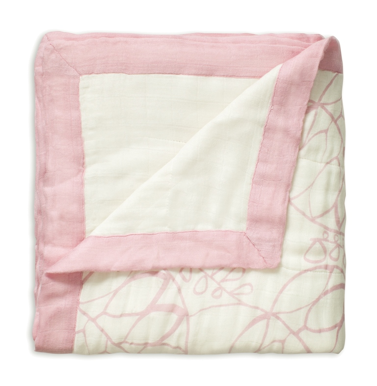aden and anais bamboo dream blanket - tranquility leafy