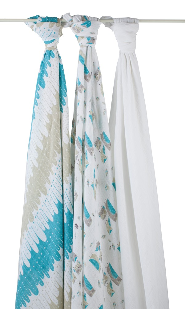aden and anais organic swaddle blanket - wise guys