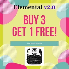 BUY 3 GET 1 FREE - bumGenius Elemental 2.0 One Size AIO Diapers - 4 Pack