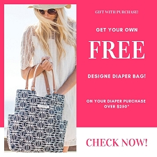 A FREE Designer Diaper Bag with Purchase over $250