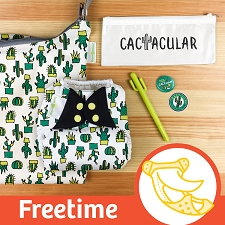 MONTH #4 - CACTacular bumGenius Freetime Cloth Diaper Set
