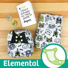 MONTH #2 - CATtitude bumGenius Elemental Cloth Diaper Set