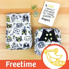 MONTH #2 - CATtitude bumGenius Freetime Cloth Diaper Set
