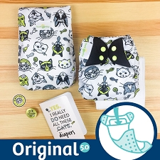MONTH #2 - CATtitude bumGenius 5.0 Cloth Diaper Set