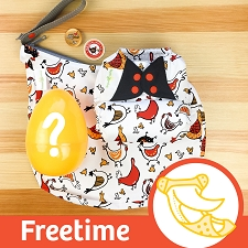 MONTH #5 - EGGcellent bumGenius Freetime Cloth Diaper Set