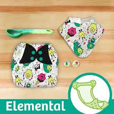 MONTH #10 - EYEscream bumGenius Elemental Cloth Diaper Set