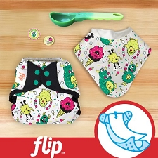 MONTH #10 - EYEscream Flip Diaper Cover Set