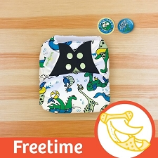 MONTH #12 - LOCHy DUCKy bumGenius Freetime Cloth Diaper
