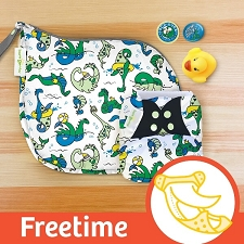 MONTH #12 - LOCHy DUCKy bumGenius Freetime Cloth Diaper Set