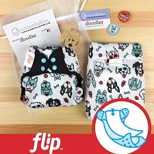 MONTH #1 - PAWsome Flip Diaper Cover Set